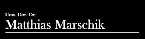 Univ.-Doz. Dr. Matthias Marschik