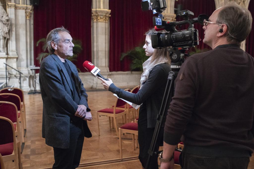 """Interview mit """"W24"""" zum Austria-Buch, November 2018. © Paul Pibernig"""